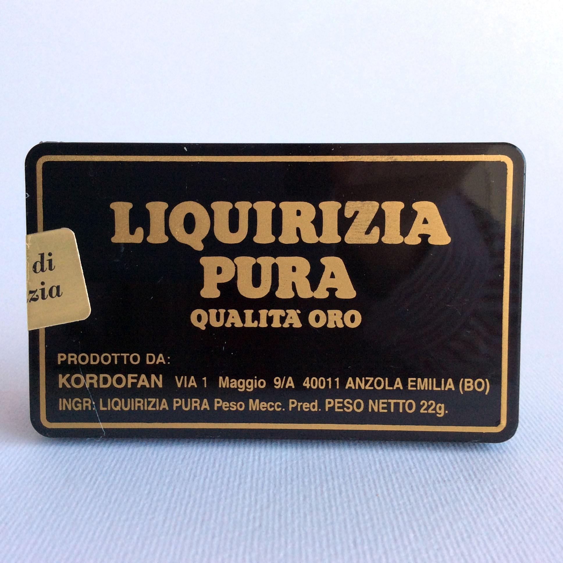 Kordofan Tronchetti Liquirizia Pura Qualita' Oro 22 Gr