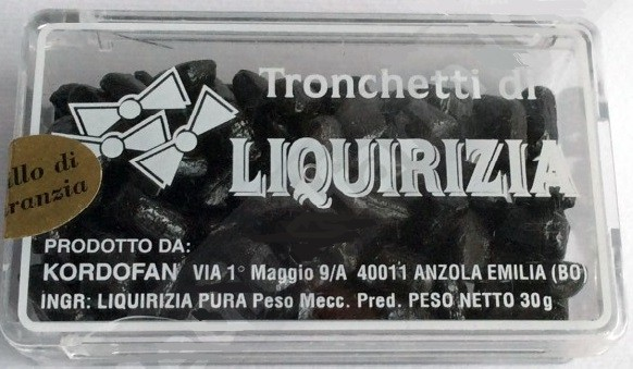 Kordofan Tronchetti Di Liquirizia 30 Gr