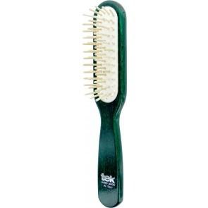 Tek Spazzola Rettangolare Laccata Verde Dente Corto 22X4 cm